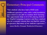elementary principal comments