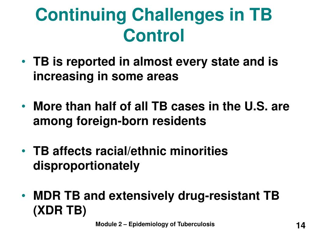 Continuing Challenges in TB Control