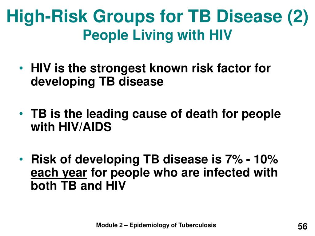 High-Risk Groups for TB Disease (2)