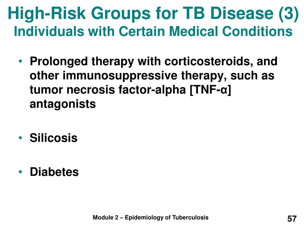 High-Risk Groups for TB Disease (3)