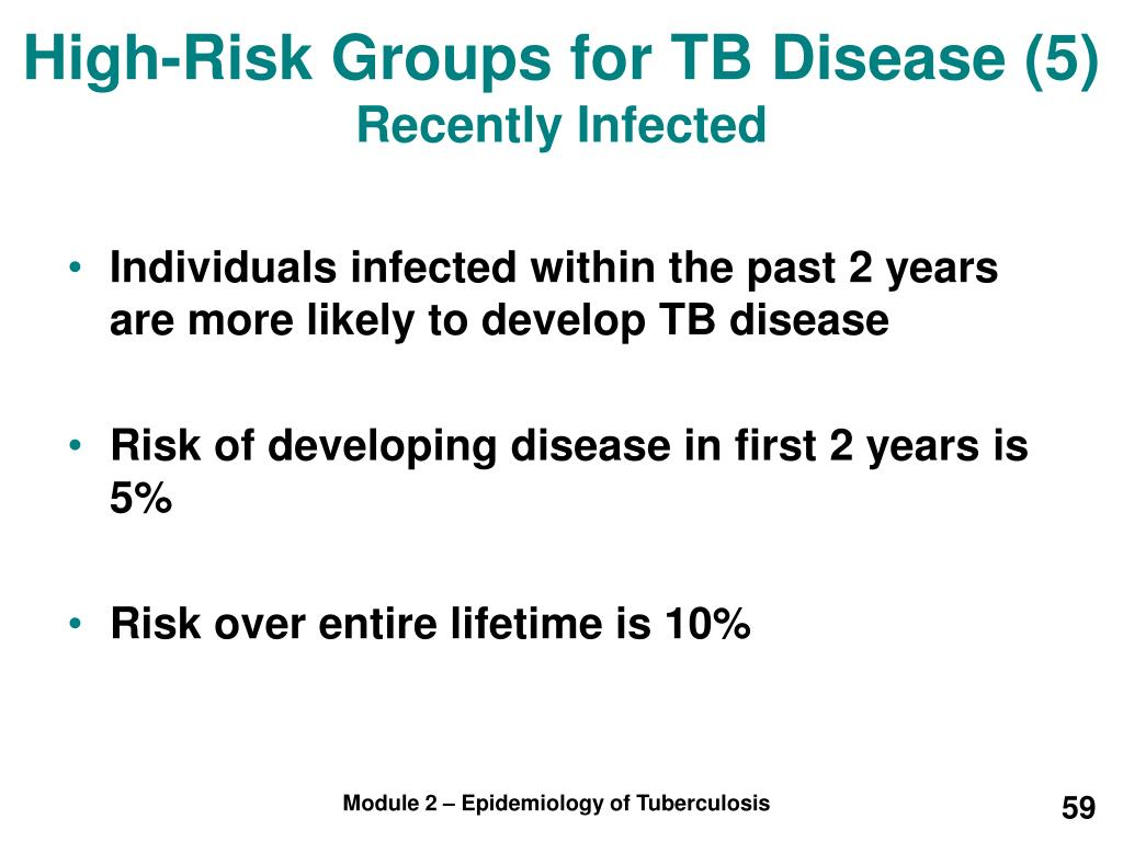 High-Risk Groups for TB Disease (5)