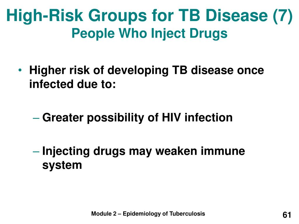 High-Risk Groups for TB Disease (7)