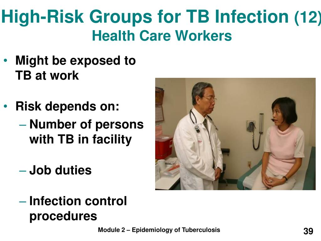 High-Risk Groups for TB Infection