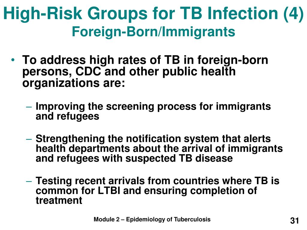 High-Risk Groups for TB Infection (4)