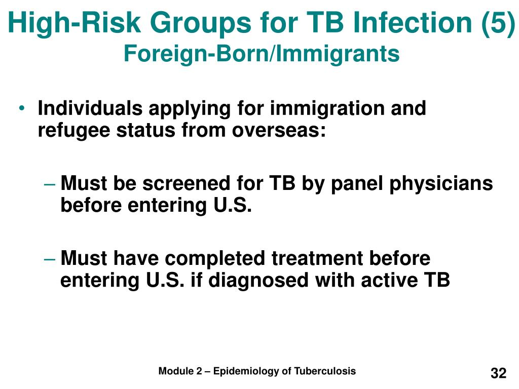 High-Risk Groups for TB Infection (5)