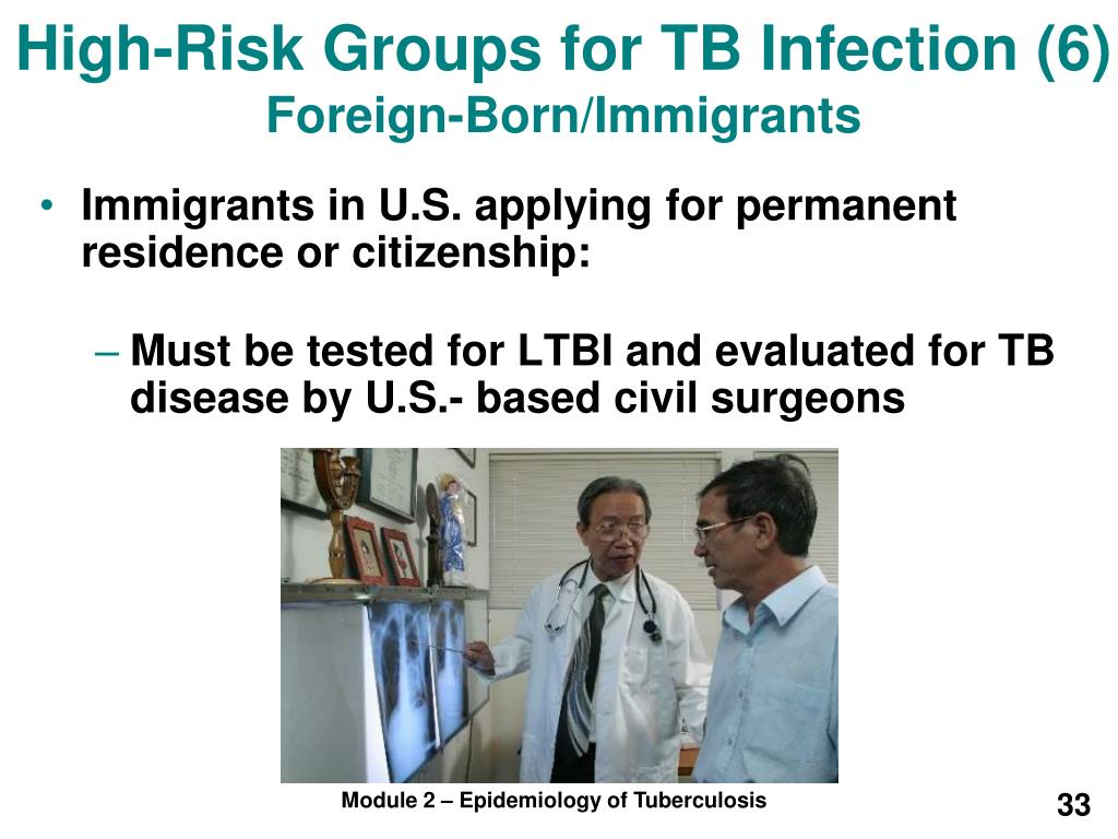 High-Risk Groups for TB Infection (6)
