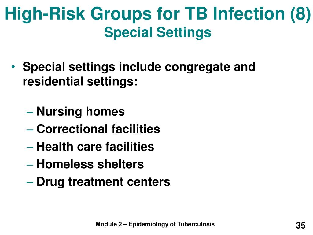 High-Risk Groups for TB Infection (8)
