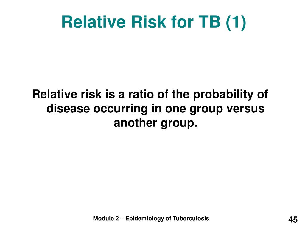 Relative Risk for TB (1)