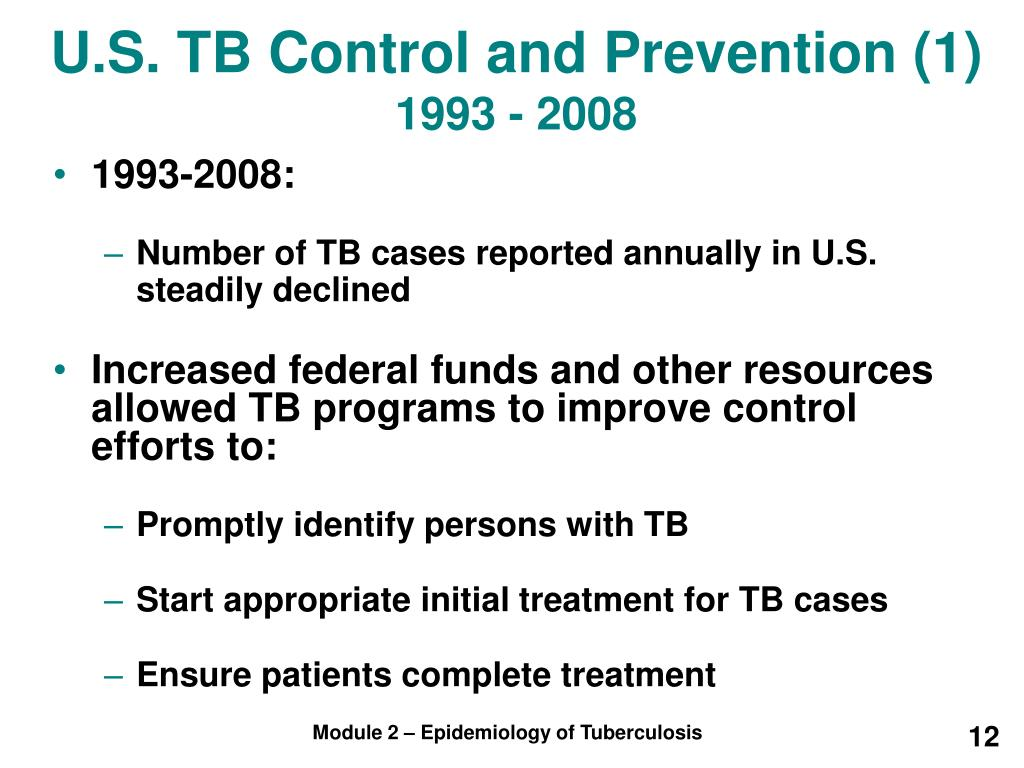 U.S. TB Control and Prevention (1)