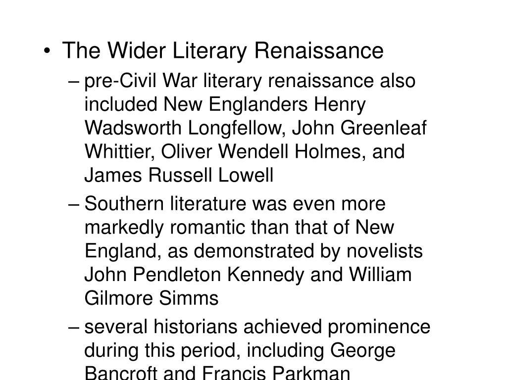 The Wider Literary Renaissance