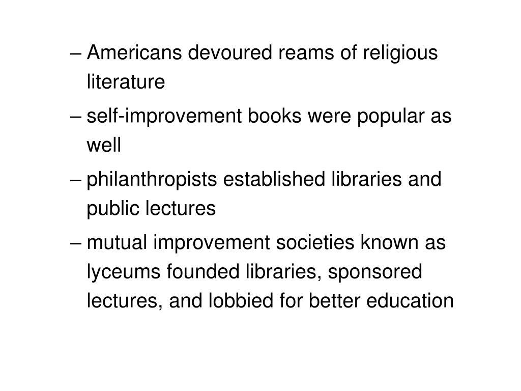 Americans devoured reams of religious literature