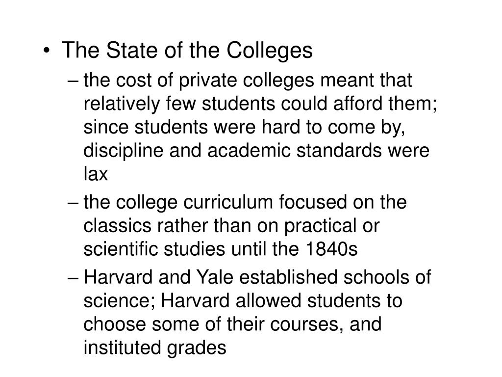 The State of the Colleges