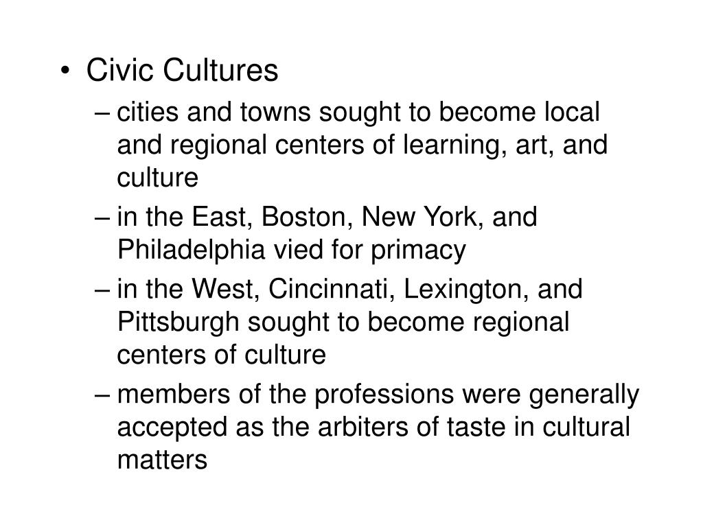 Civic Cultures