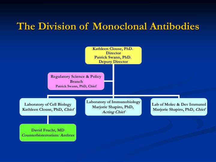 The Division of Monoclonal Antibodies