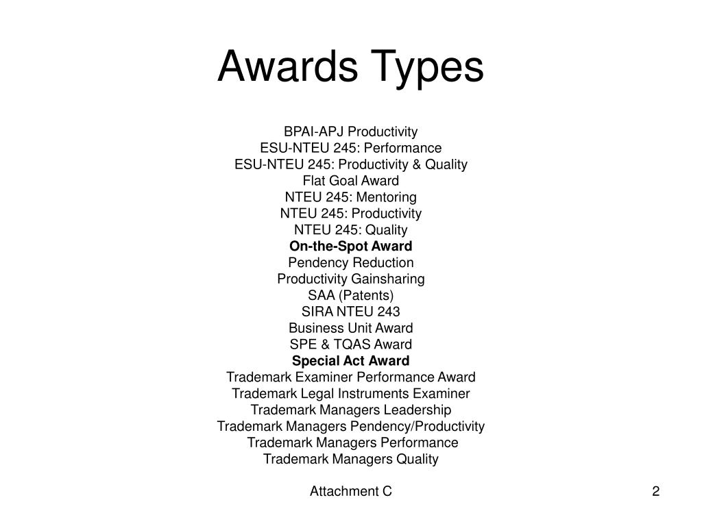 Awards Types