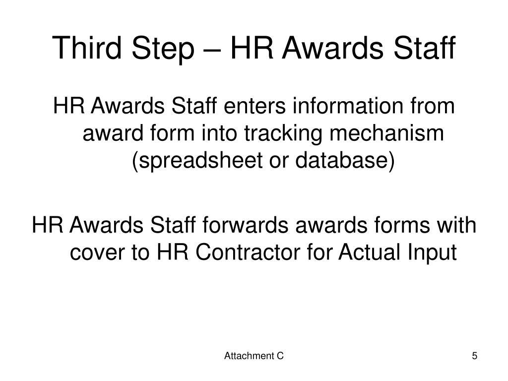 Third Step – HR Awards Staff