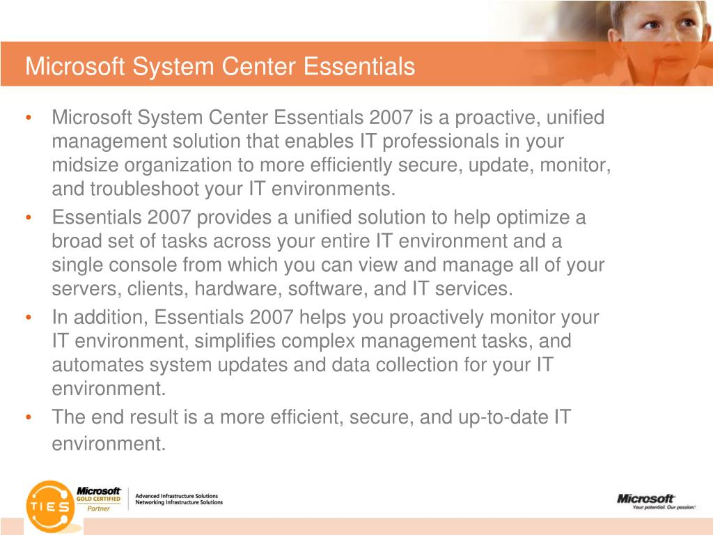 Microsoft System Center Essentials