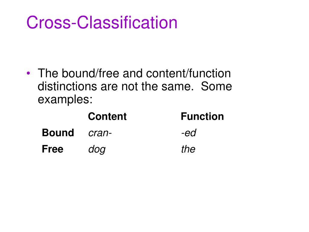 Cross-Classification