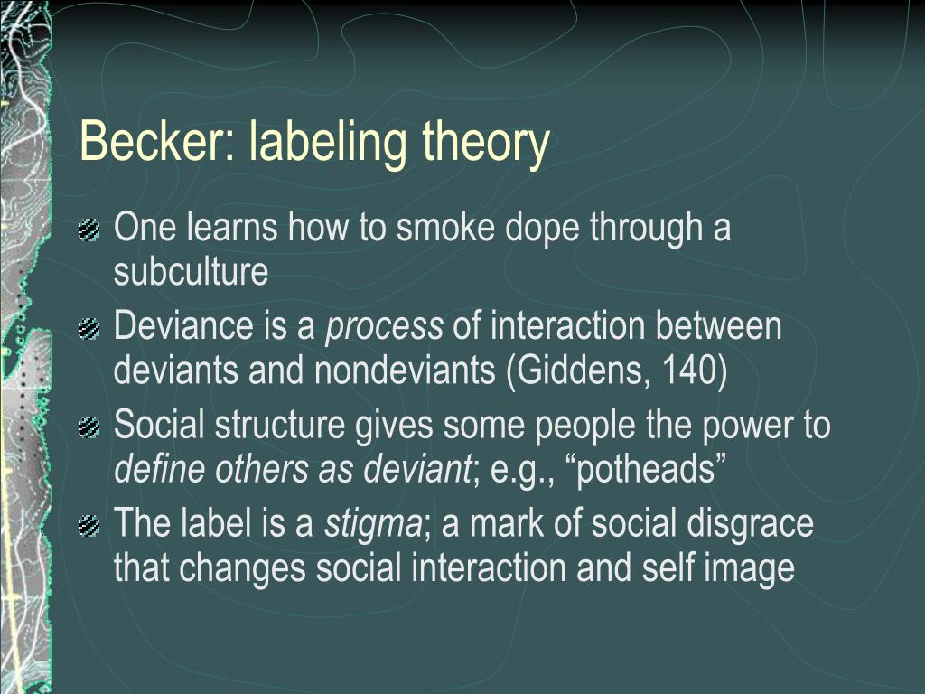 Becker: labeling theory
