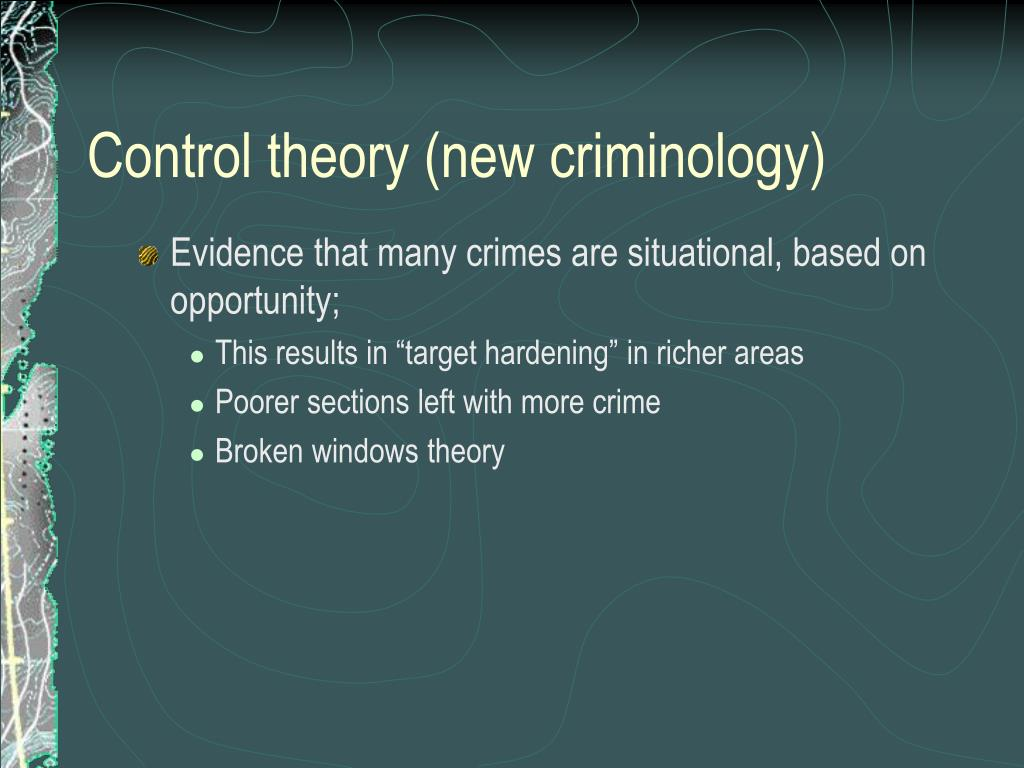Control theory (new criminology)