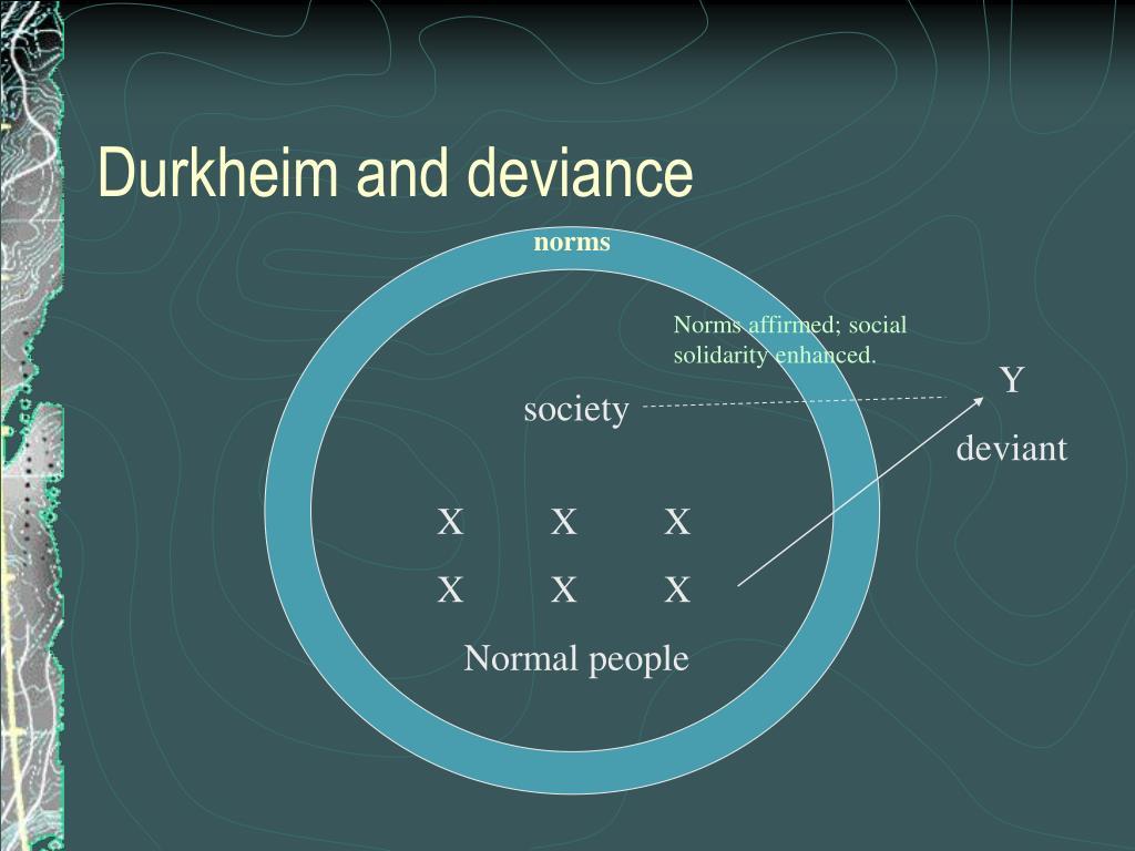 Durkheim and deviance