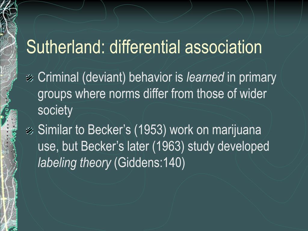 Sutherland: differential association