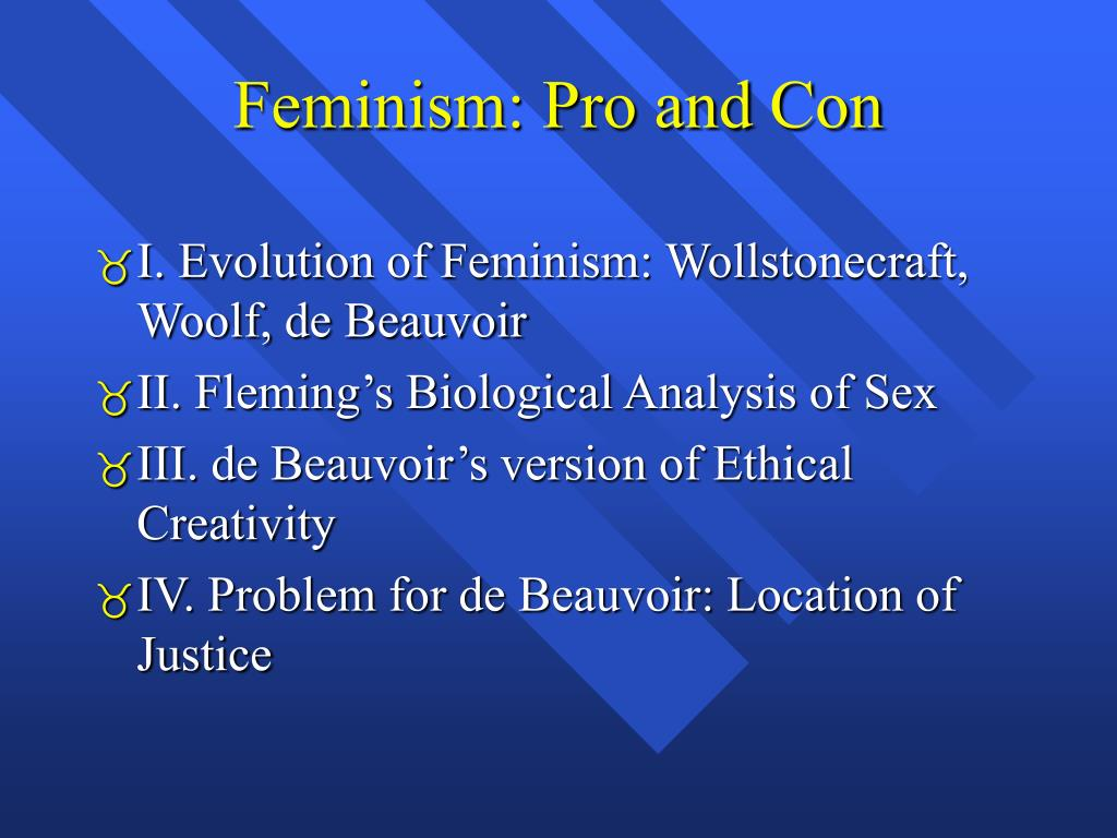feminism pro and con
