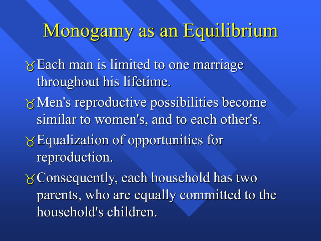 Monogamy as an Equilibrium