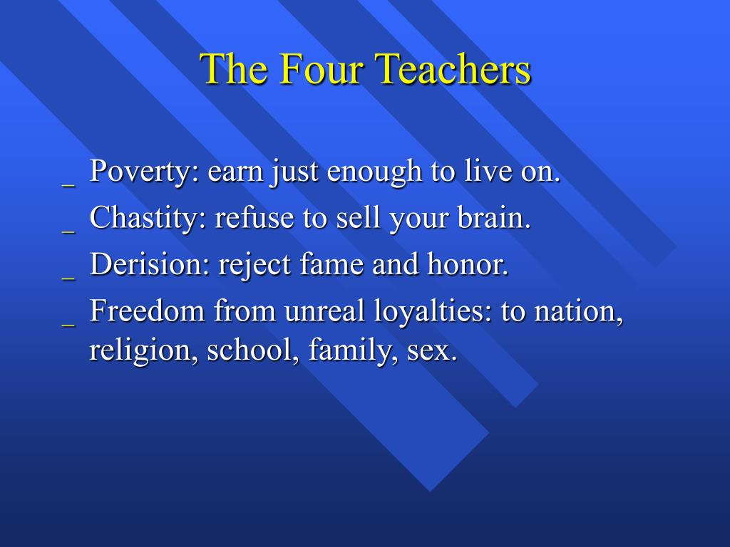 The Four Teachers