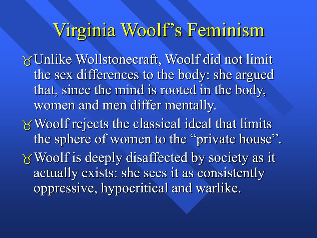 Virginia Woolf's Feminism
