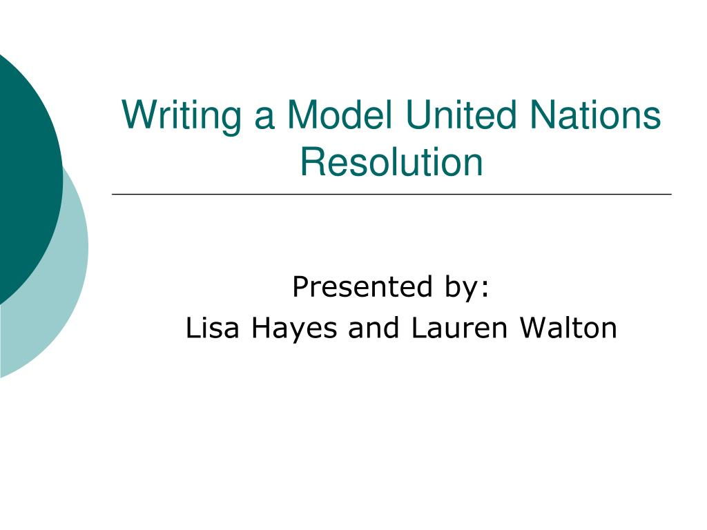 Writing a Model United Nations Resolution