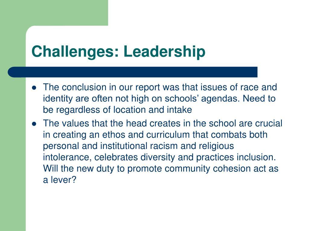 Challenges: Leadership
