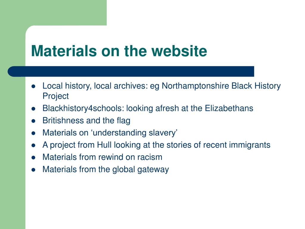 Materials on the website
