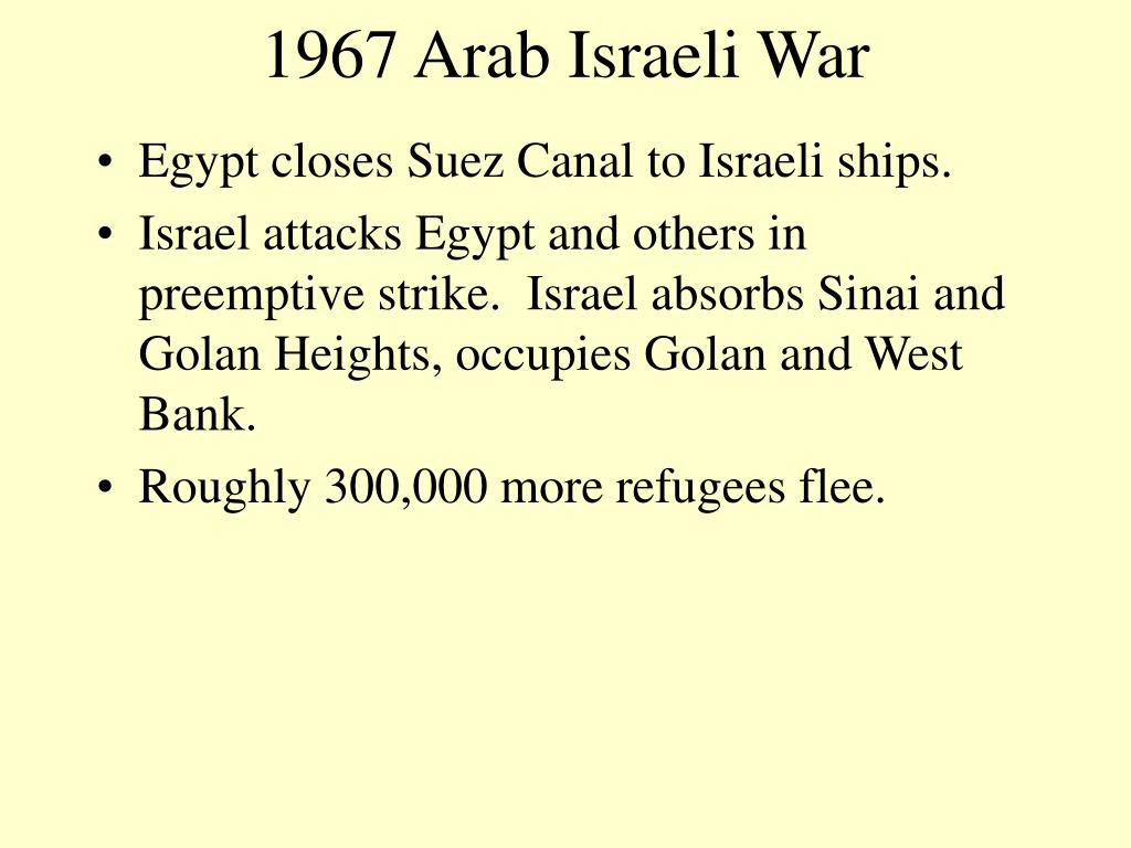 1967 Arab Israeli War