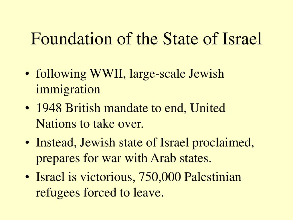 Foundation of the State of Israel