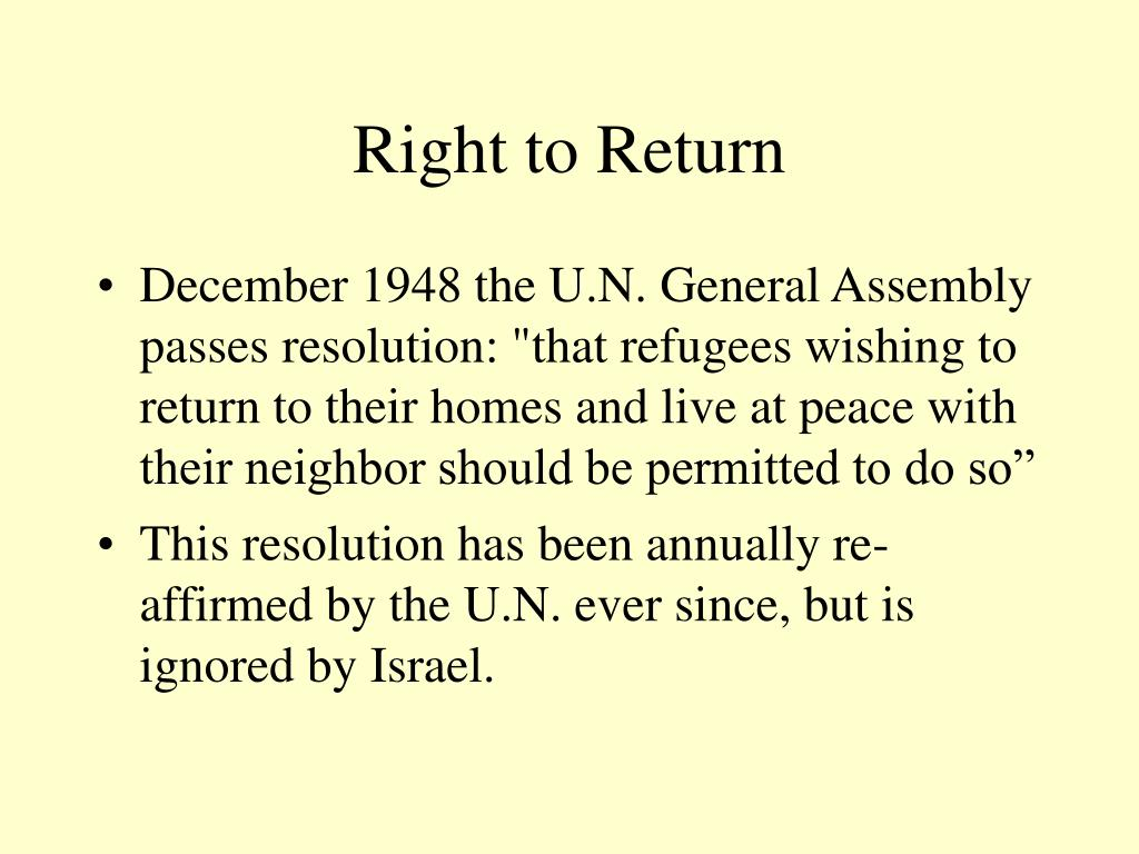 Right to Return