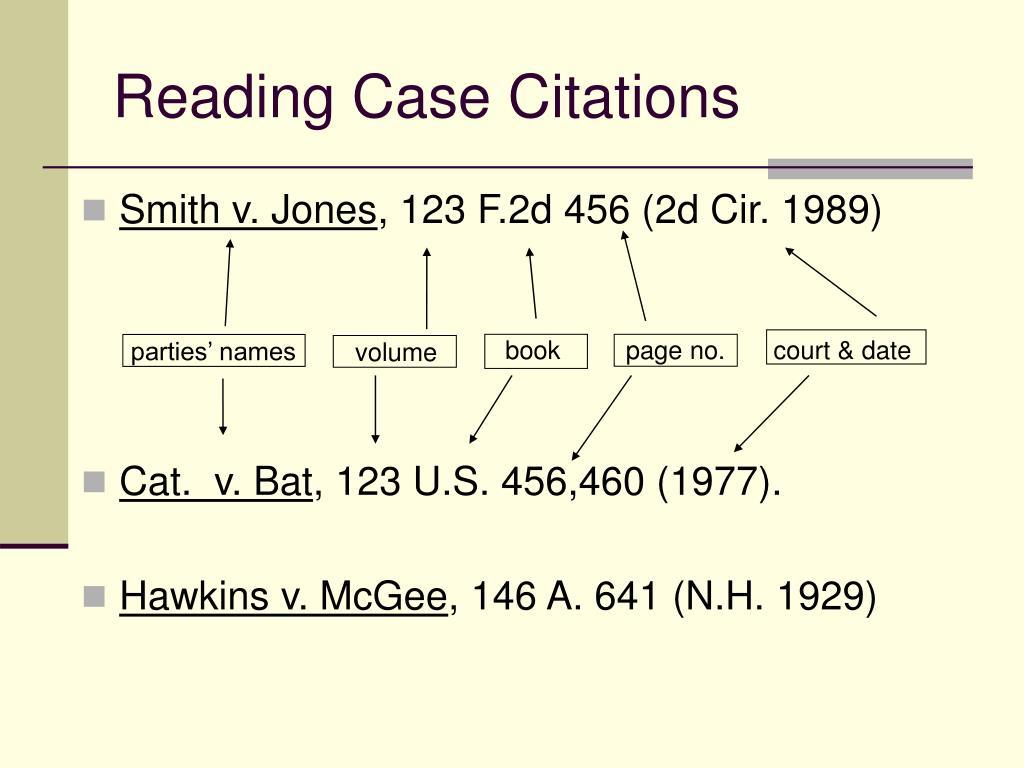 Reading Case Citations