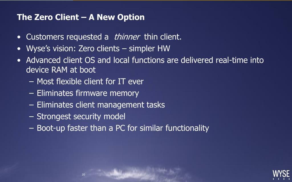 The Zero Client – A New Option