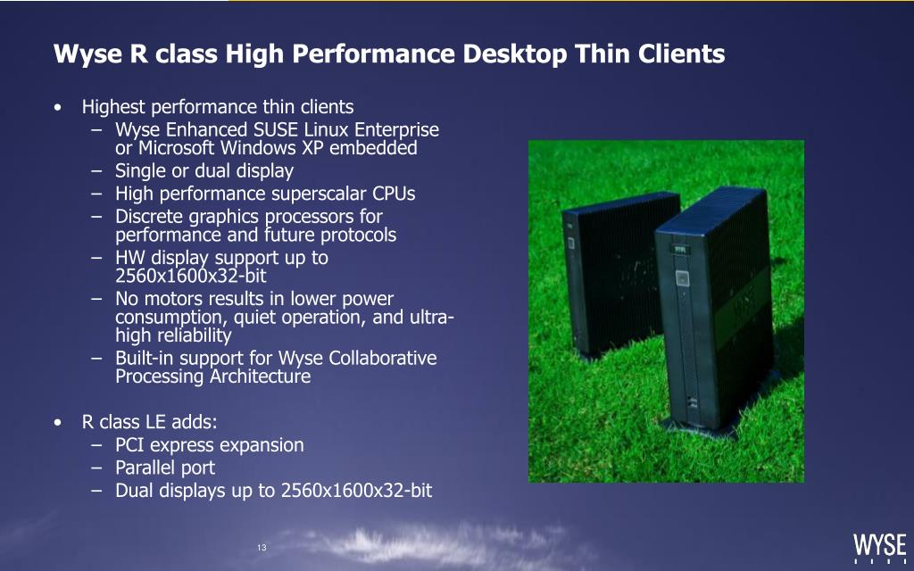 Wyse R class High Performance Desktop Thin Clients
