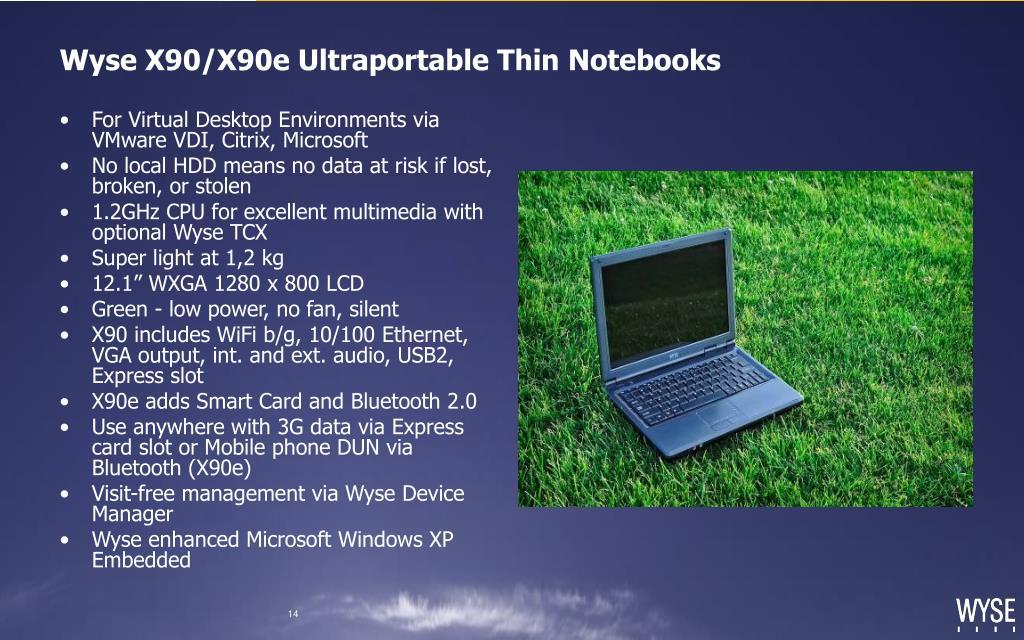 Wyse X90/X90e Ultraportable Thin Notebooks