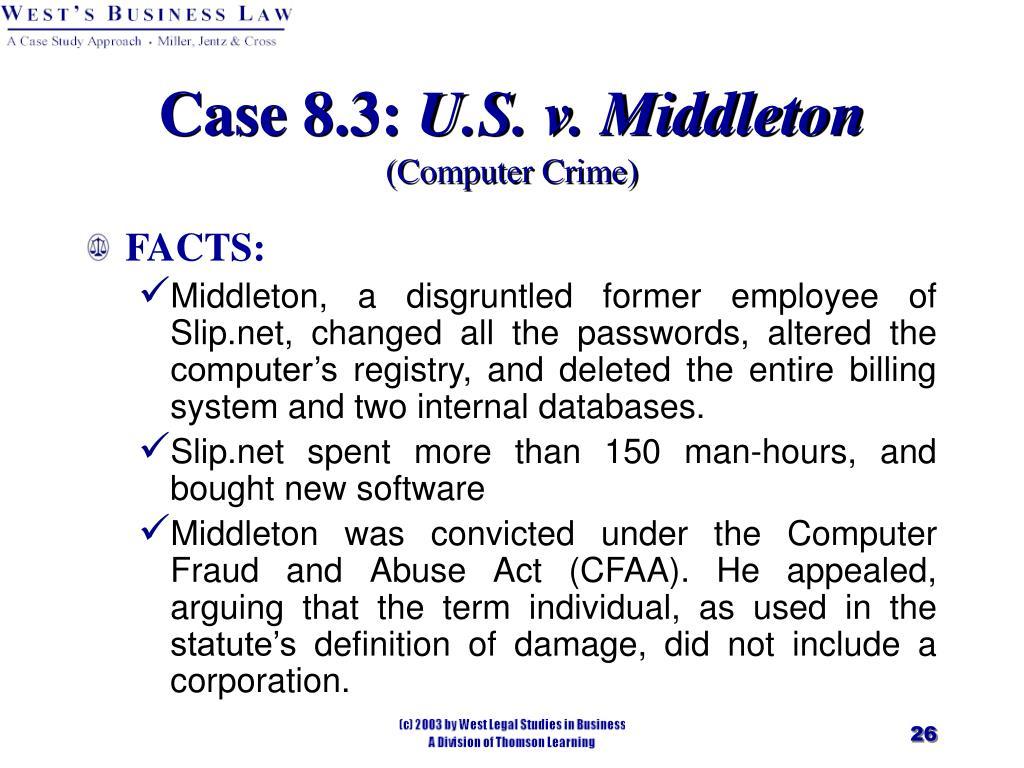 Case 8.3:
