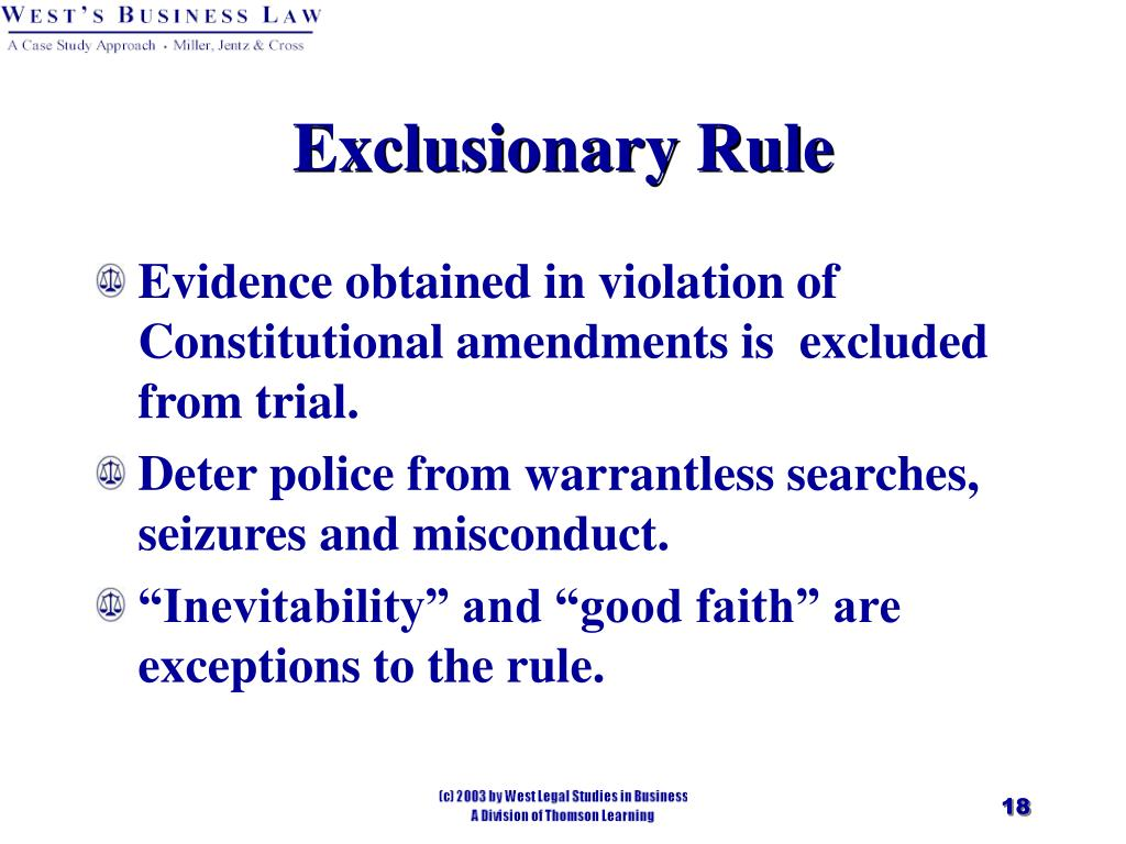 Exclusionary Rule
