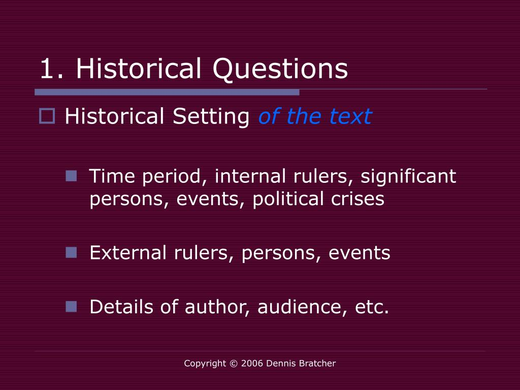 1. Historical Questions
