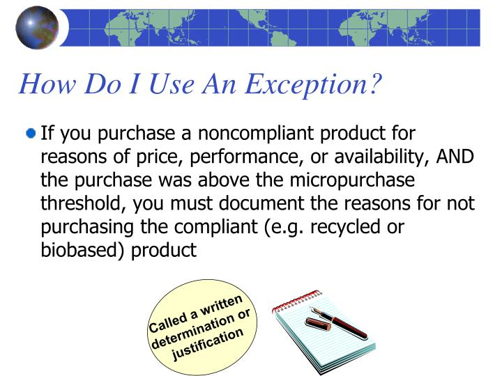 How Do I Use An Exception?