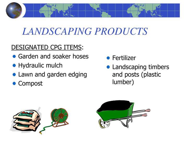 DESIGNATED CPG ITEMS