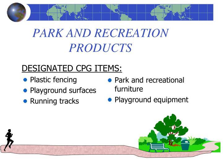 DESIGNATED CPG ITEMS: