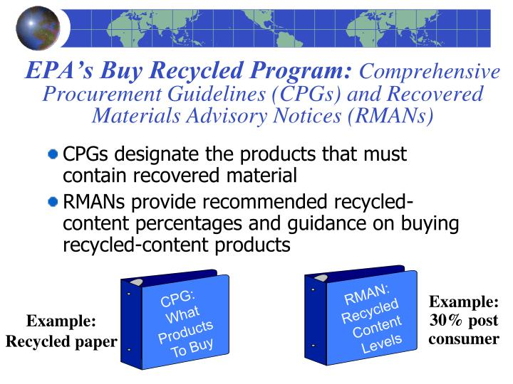EPA's Buy Recycled Program: