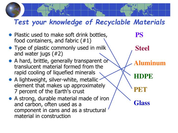 Plastic used to make soft drink bottles, food containers, and fabric