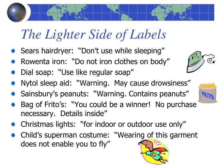 The Lighter Side of Labels