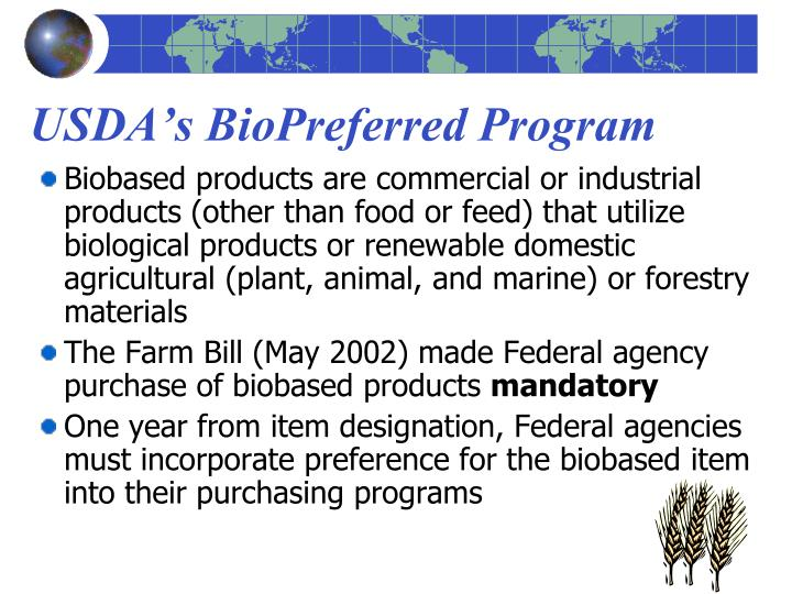 USDA's BioPreferred Program